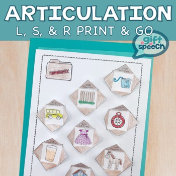 Articulation Activity No Prep Detecting Targets L, R (er), and S