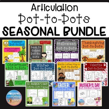 No Prep Articulation Dot to Dots *GROWING BUNDLE*