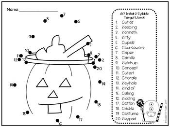 No Prep Articulation Dot to Dots: Halloween Edition
