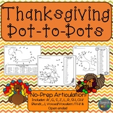 Articulation Dot to Dots: Thanksgiving Edition