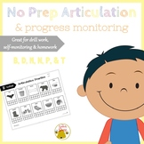 No Prep Articulation and Progress Monitoring: B, D, M, N, P, & T