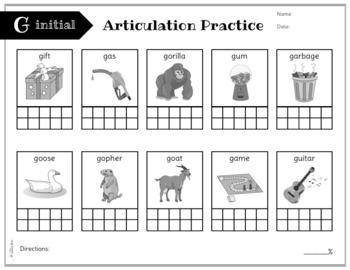 No Prep Articulation and Progress Monitoring: F, G, H, K, NG, V, Y