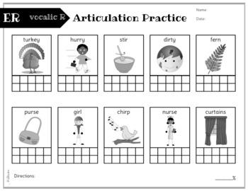 No Prep Articulation and Progress Monitoring: L, R. Vocalic R, S, Z