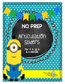 No Prep Articulation Sliders for f, k, g, s, and s blends