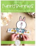 NO PREP Funny Bunnies Articulation & Phonology Sliders: Sp
