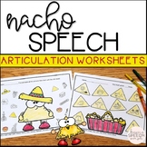No Prep Articulation Worksheets - Nacho themed for Cinco de Mayo