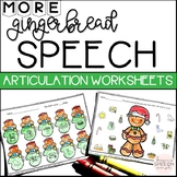 No Prep Articulation Worksheets - Gingerbread themed