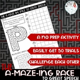 No Prep Articulation Worksheets: The A-MAZE-ING Race