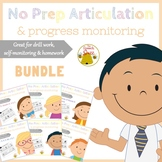 No Prep Articulation and Progress Monitoring Bundle