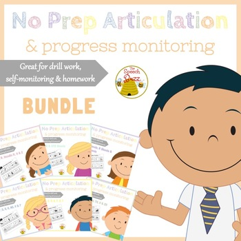 No Prep Articulation and Progress Monitoring Bundle