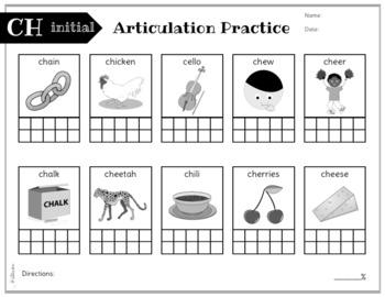 No Prep Articulation and Progress Monitoring: Ch, J, Sh, Th, W, Zh