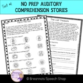 No Prep Auditory Comprehension Stories