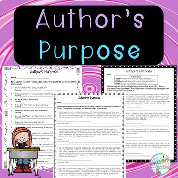 No-Prep - Author's Purpose