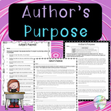No-Prep - Author's Purpose