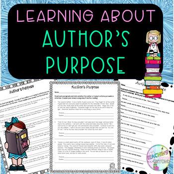 No - Prep - Author's Purpose, Entertain, Inform, Persuade