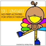 Thanksgiving Activities For Language Skills