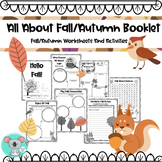 All About Fall Worksheets/Activities or All about Autumn Worksheets/Activities
