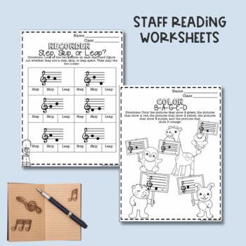 No Prep BAGED Recorder Worksheets
