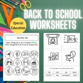 No Prep Back To School Set for Special Education