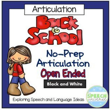 No Prep Back to School Articulation Packet