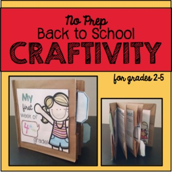 No Prep Back to School Craftivity
