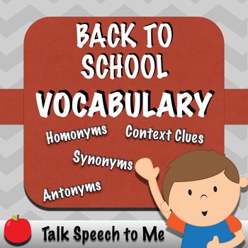 No PREP Back to School Vocabulary