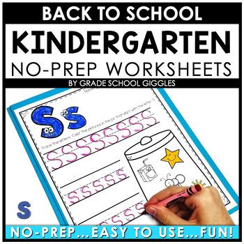 Back to School Activities Kindergarten