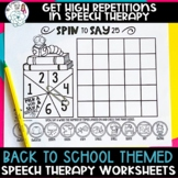 No Prep Back to School Themed Articulation Worksheet Activity