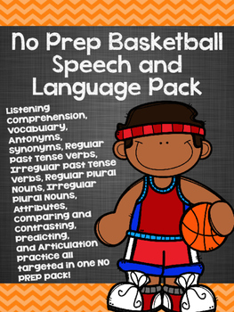 No Prep Basketball Speech and Language Pack