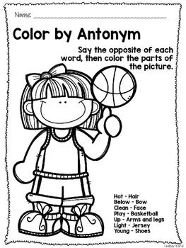 No Prep Basketball Speech and Language Pack