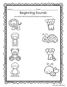 No Prep- Beginning Sound (Animals)