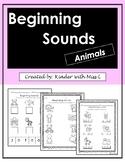 No Prep- Beginning Sound (Animals)