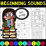 No Prep Beginning Sounds Assessment Pack