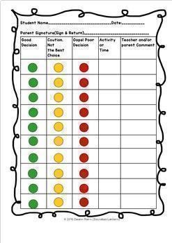 Character Education:Behavior Modification Binder Grades 4-8 & SPED