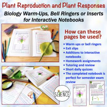 No Prep Biology Interactive Notebooks or Warm Ups Bundled Set Part 2
