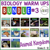 Animal Kingdom Biology Interactive Notebooks or Warm Ups Bundled Set Part 3