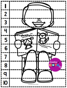 No Prep Black and White Reading Together Differentiated Bundle