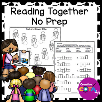 No Prep Black and White Reading Together Differentiated Set