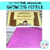 No Prep Book Companion GROWING BUNDLE