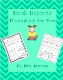 Reading Comprehension- Book Reports Throughout the Year- No Prep