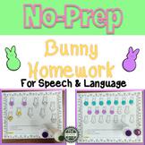 No Prep Bunny Homework