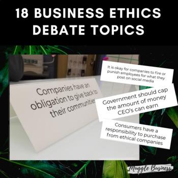 No Prep Business Ethics Speed Debate Activity