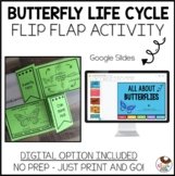 No Prep Butterfly Life Cycle Research Flip Flap