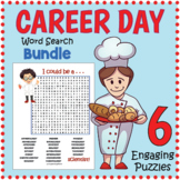 No Prep CAREER DAY BUNDLE - 6 Word Search Puzzle Worksheet Activities