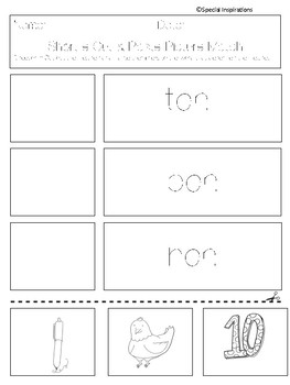 No Prep! CVC Worksheets