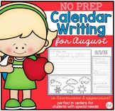 No Prep Calendar Writing Workbook for August