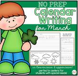 No Prep Calendar Writing Workbook for March
