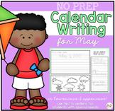 No Prep Calendar Writing Workbook for May