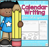 Editable Calendar Writing Workbook ( USE IT ALL YEAR! )