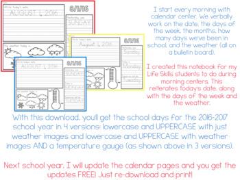 Editable Calendar Writing Workbook ( USE IT ALL YEAR! )